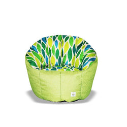 Pumpkin Beanbag Chair (Kids) - Leaf print
