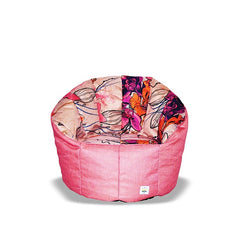 Pumpkin Beanbag Chair (Kids) - Floral print