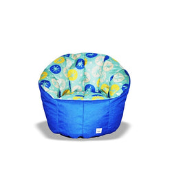 Pumpkin Beanbag Chair (Kids) - Snowflake print