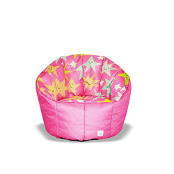 Pumpkin Beanbag Chair (Kids) - Stars print