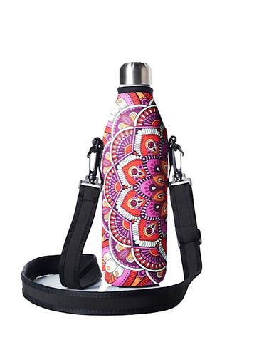 TRVLR by BBBYO carry cover - with shoulder strap - 750 ml - Mandala print