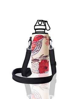UNI TRVLR by BBBYO carry cover for Most Bottles - with shoulder strap - 500 ml/600 ml - Bird print