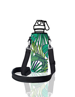 UNI TRVLR by BBBYO carry cover for Most Bottles - with shoulder strap - 500 ml/600 ml - Frond print