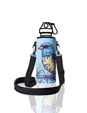 UNI TRVLR by BBBYO carry cover for Most Bottles - with shoulder strap - 500 ml/600 ml - Kook print