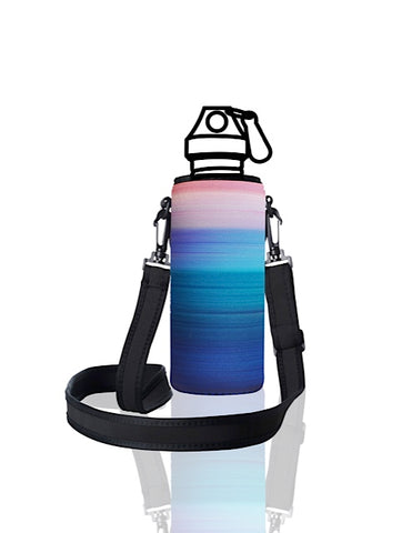 UNI TRVLR by BBBYO carry cover for Most Bottles - with shoulder strap - 500 ml/600 ml - Peace print