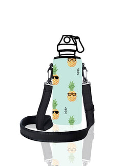 UNI TRVLR by BBBYO carry cover for Most Bottles - with shoulder strap - 500 ml/600 ml - Pineapple print