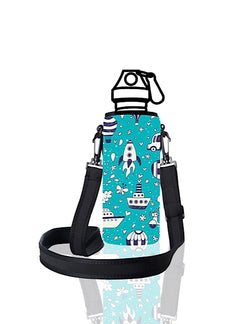 UNI TRVLR by BBBYO carry cover for Most Bottles - with shoulder strap - 500 ml/600 ml - Rocket print