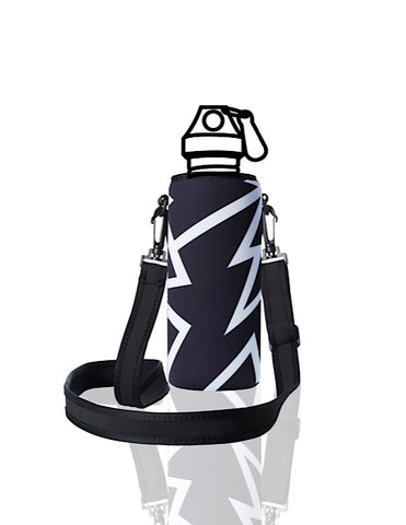 UNI TRVLR by BBBYO carry cover for Most Bottles - with shoulder strap - 500 ml/600 ml - Spark print