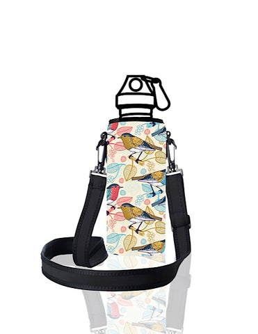 UNI TRVLR by BBBYO carry cover for Most Bottles - with shoulder strap - 500 ml/600 ml - Sparrow print