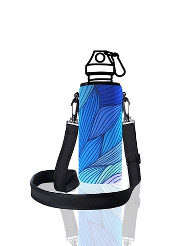 UNI TRVLR by BBBYO carry cover for Most Bottles - with shoulder strap - 500 ml/600 ml - Tide print