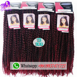 18Inch Synthetic Marley Braids Hair Cheap Fluffy Marley Hair Crochet Braids Ombre Jumbo Afro Kinky-WeaveKINGDOM.com