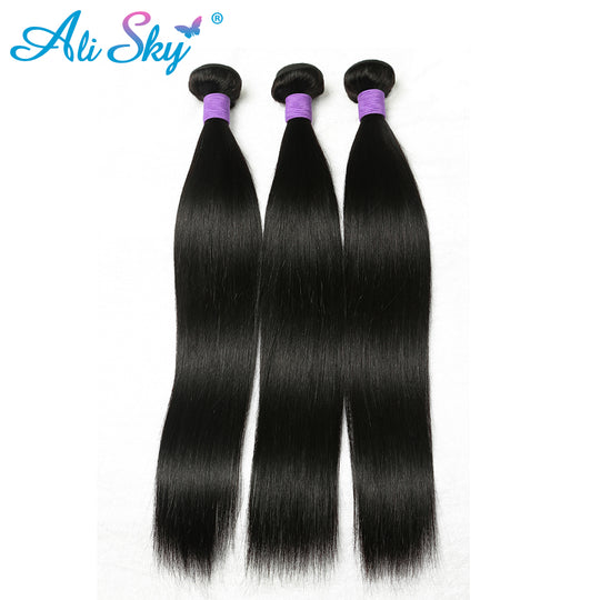 Ali Sky Remy Hair Bundles Straight Peruvian Hair Weave Bundles 100% Human Hair Weaving 1 Piece-WeaveKINGDOM.com