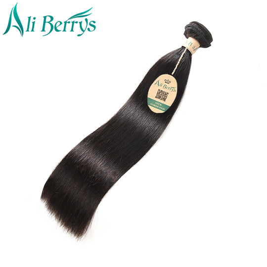 Ali Berrys Hair Peruvian Straight Hair Remy Human Hair Bundles 100g/ piece Natural Color 8-28 Inches-WeaveKINGDOM.com