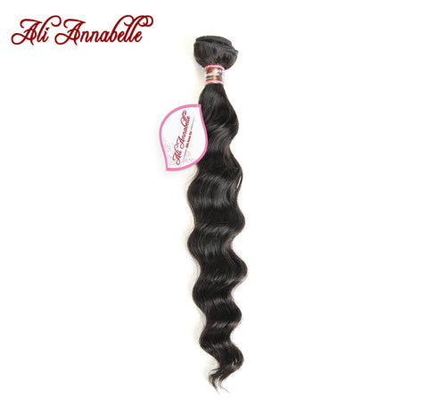 ALI ANNABELLE HAIR Peruvian Loose Wave Machine Double Hair Weft 100% Remy Human Hair Weave Bundles-WeaveKINGDOM.com