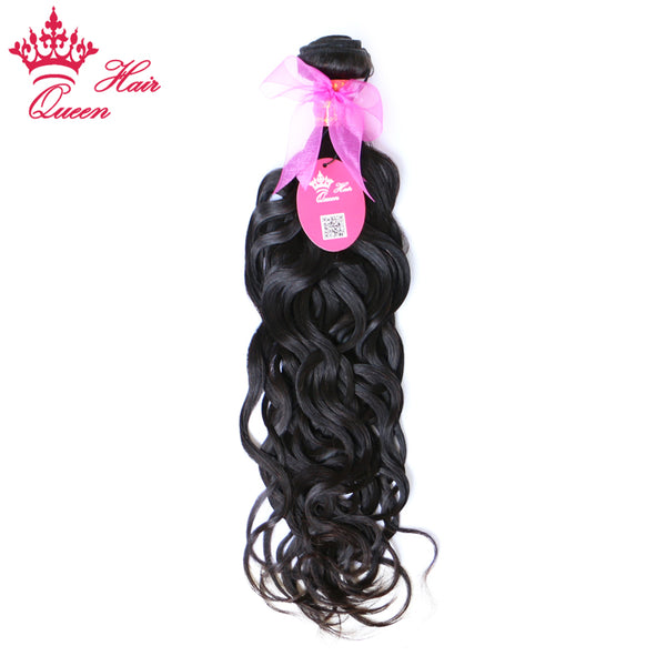 "Queen Hair Products Brazilian Water Wave Remy Hair Natural Color 10"" - 28"" 1 Piece 100% Human Hair"
