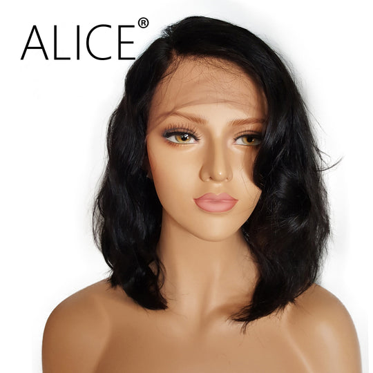 ALICE Short Glueless Lace Front Human Hair Wigs With Baby Hair 8 Inch to 16 Inch Brazilian Non-WeaveKINGDOM.com