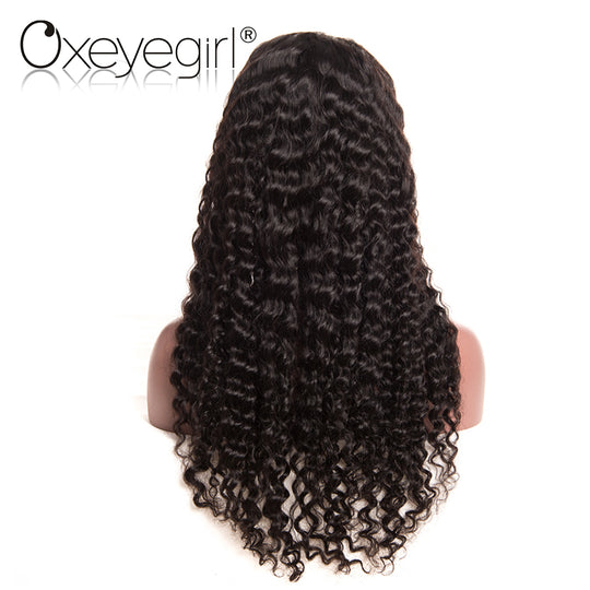 Oxeye girl Lace Front Human Hair Wigs With Baby Hair Deep Wave Brazilian Hair Wigs For Black Women-WeaveKINGDOM.com