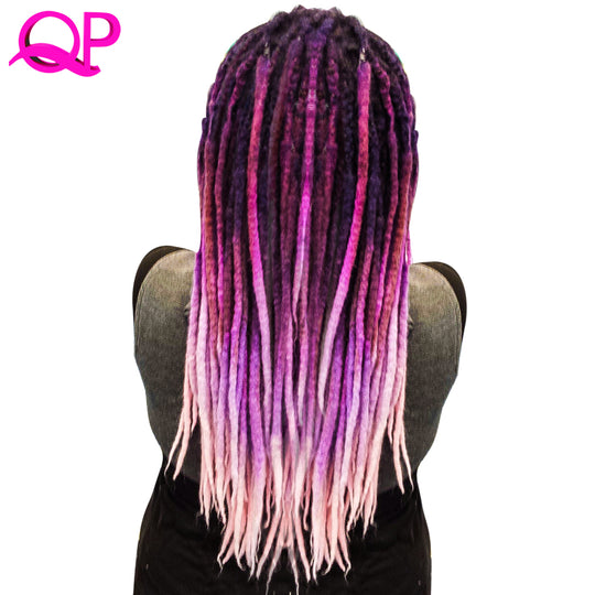 Qp Hair one PCS Dreadlocks 5 stand Hair Crochet Marley Handwork Hair Kanekalon Crochet Braiding-WeaveKINGDOM.com