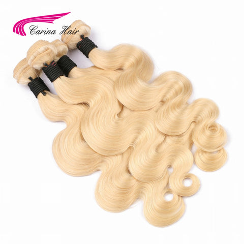 613 blonde Brazilian hair bundles Carina Hair Body Wave Non Remy 613 hair extensions Free Shipping-WeaveKINGDOM.com