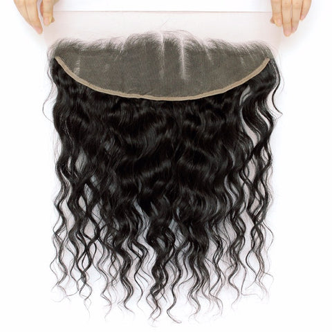 13x4 Ear to Ear Lace Frontal Closure with Baby Hair Brazilian Loose Wave Remy Hair 100% Human Hair-WeaveKINGDOM.com