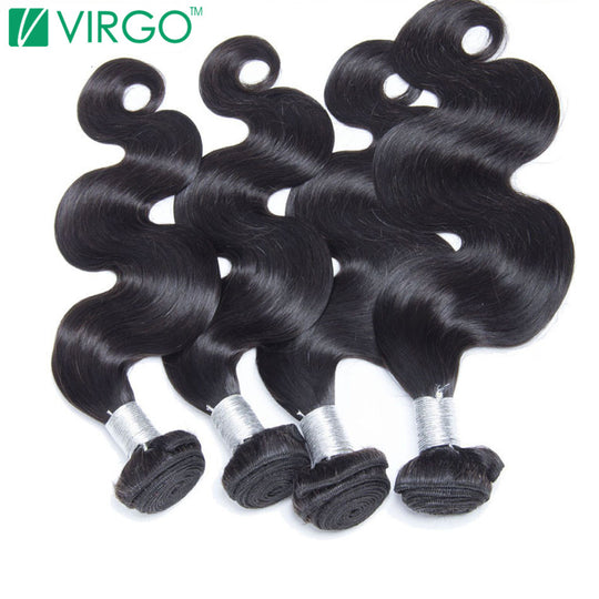 Virgo Hair Company Raw Indian Body Wave Human Hair Weave Bundles 1 Pc Fuller Hair Extensions 100%-WeaveKINGDOM.com