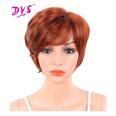Deyngs Pixie Cut Short Synthetic Wigs With Bangs For Black Women