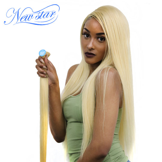 New Star Brazilian Blonde #613 Straight Hair 100% Human Hair Weaving 10''-30''Inches One Bundles-WeaveKINGDOM.com