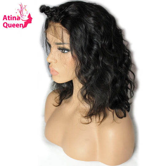 Atina Queen 180 Density Short Bob Lace Front Wigs For Black Women Pre Plucked with Baby Hair-WeaveKINGDOM.com