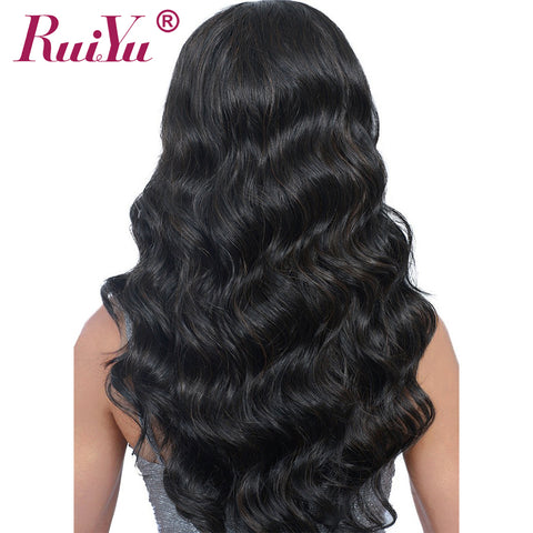 RUIYU Body Wave Wig Full Lace Front Human Hair Wigs With Baby Hair Pre Plucked Lace Wigs For Black-WeaveKINGDOM.com