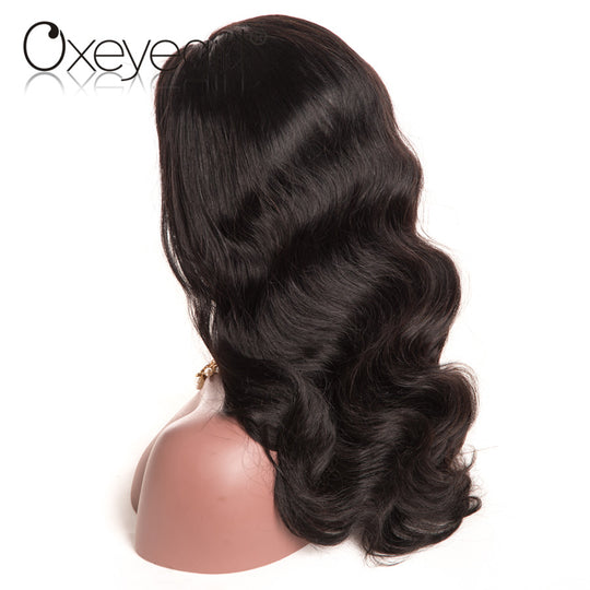 Oxeye girl Brazilian Body Wave Pre Plucked Full Lace Human Hair Wigs With Baby Hair Natural Color-WeaveKINGDOM.com