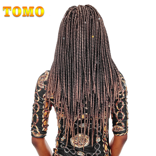 "TOMO Hair Synthetic Dreadlocks Hair Extensions 18"" 20roots Ombre Kanekalon Braiding Hair 1 Pack 100g-WeaveKINGDOM.com"