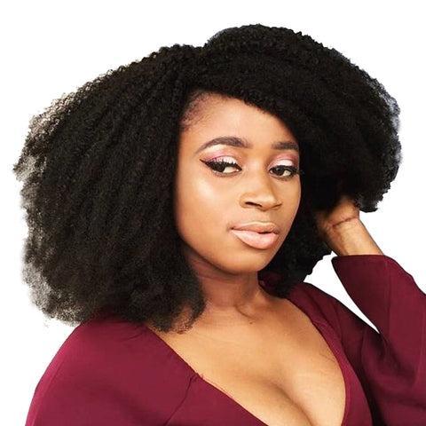 "<span style=""color: #ff0000;"">Holiday HOT Deal!</span> Mongolian Afro Kinky Curly Hair Weave Natural-WeaveKINGDOM.com"
