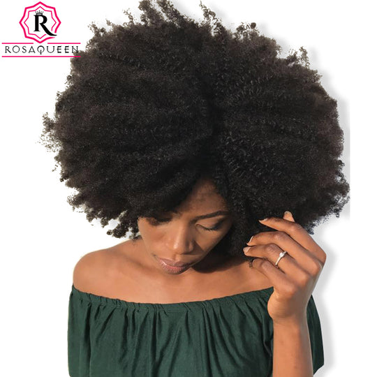 4B 4C Afro Kinky Curly Clip In Human Hair Extensions Brazilian Remy Hair 100% Human Natural Hair-WeaveKINGDOM.com