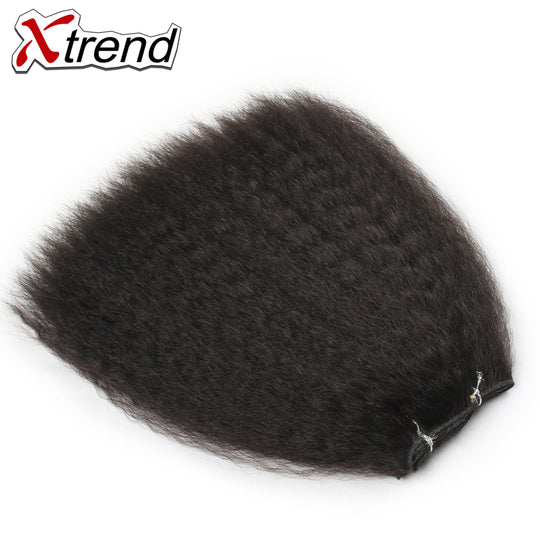 Xtrend Kanekalon Kinky Straight Synthetic Hair Weave Bundles For Black Women 8inch 14inch Short-WeaveKINGDOM.com