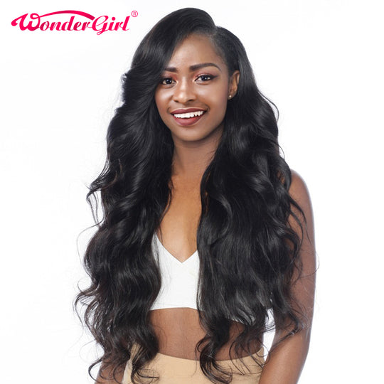 Wonder girl Pre Plucked 360 Lace Frontal Wig Peruvian Body Wave 150% Density Human Hair Wigs For-WeaveKINGDOM.com
