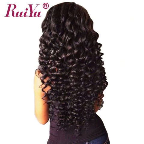 RUIYU Human Hair Bundles Deep Wave Brazilian Hair Weave Bundles Natural Color Non Remy Hair-WeaveKINGDOM.com
