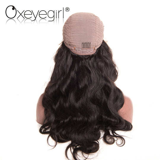 Oxeye girl Brazilian Body Wave Wigs with baby hair Pre Plucked Lace Front Human Hair Wigs For-WeaveKINGDOM.com
