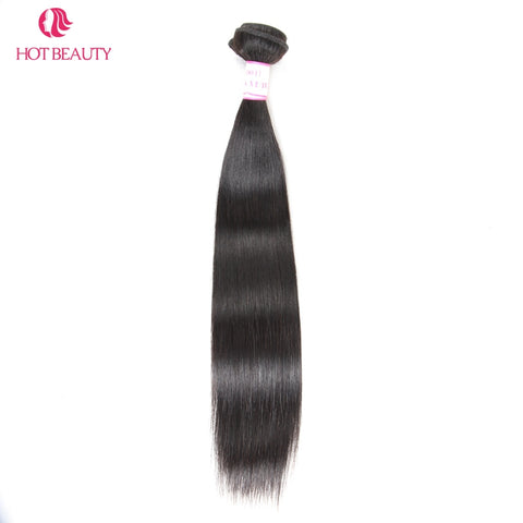 Hot Beauty Hair Peruvian Straight Hair Weave Bundles 10-28 inch 1 Piece Natural Color 100% Remy-WeaveKINGDOM.com