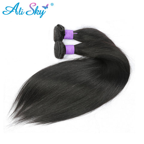 "Ali Sky Malaysian nonremy Hair Straight Weave Bundles 1pc 8""-26"" Hair Weaving UK Double Weft Can-WeaveKINGDOM.com"