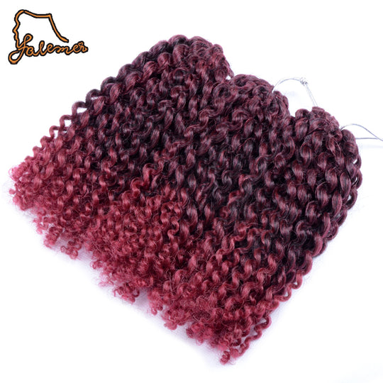 FALEMEI 8inch3Set 90g/Set Marlibob Crochet Braid Hair Synthetic Braiding Afro Kinky Twist Bundles-WeaveKINGDOM.com