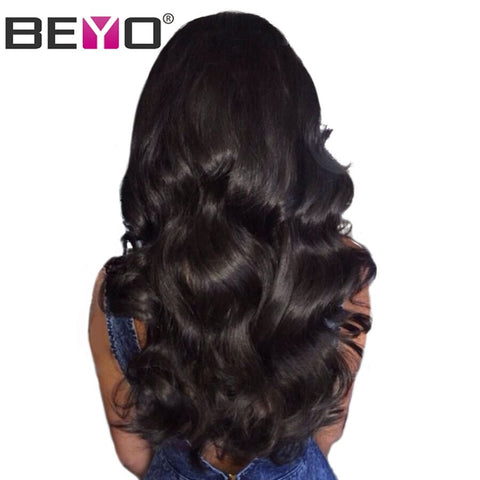 Glueless Lace Front Human Hair Wigs With Baby Hair Body Wave Lace Wigs Brazilian Hair Wigs For Black-WeaveKINGDOM.com