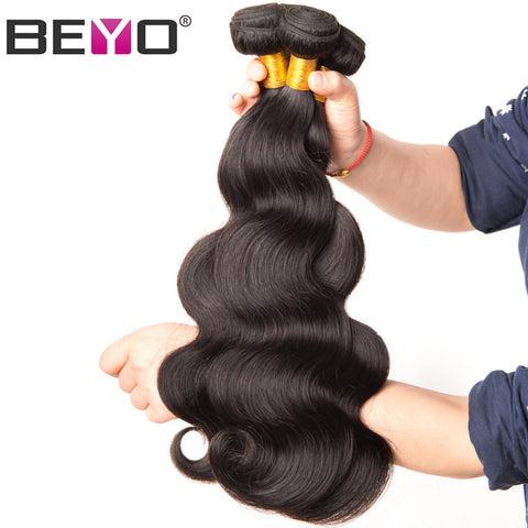 Beyo Malaysian Body Wave Hair Bundles 10-28 Inch 100% Human Hair Bundles Can Be Dyed 1 PCS-WeaveKINGDOM.com