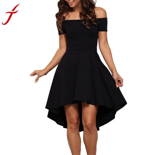 "<span style=""color: #ff0000;"">Holiday HOT Deal!</span> Short Sleeve High Low Cocktail Dress-WeaveKINGDOM.com"
