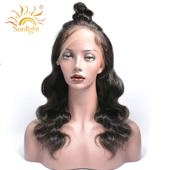 Sunlight Hair 180% Density 360 Lace Frontal Wigs Body Wave For Black Women Pre Plucked Lace Wig 100%-WeaveKINGDOM.com