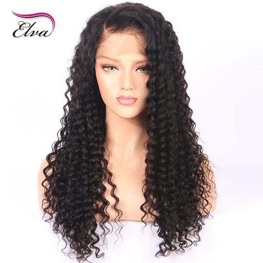 Water Wave Lace Front Human Hair Wigs For Black Women Pre Plucked Natural Hairline With Baby Hair-WeaveKINGDOM.com