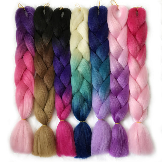 VERVES Braiding Hair 1 piece 24'' Synthetic Jumbo Braids 100g/piece ombre color kanekalon Fiber Hair-WeaveKINGDOM.com