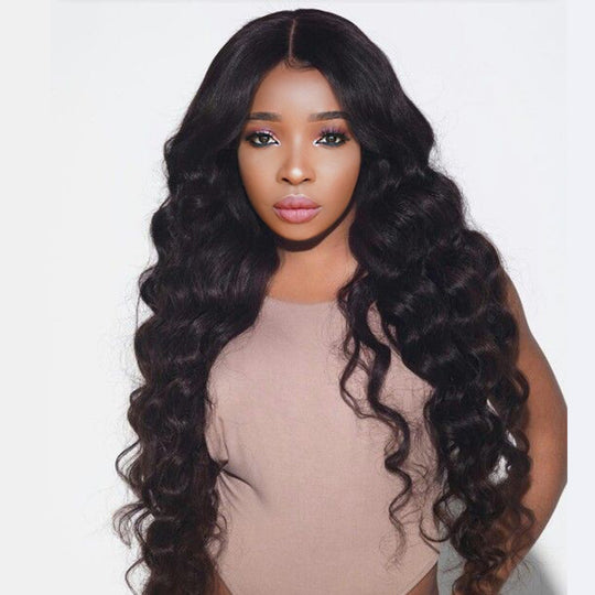 3 Loose Wave Human Hair Bundles With Closure 4X4 Brazilian Hair Weave Bundles Deal Remy Nature Color-WeaveKINGDOM.com