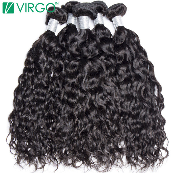Human Hair Weave Bundles Malaysian Water Wave Hair 1 Pc Virgo Hair Company 100% Natural Remy Hair Can Be Dyed Won't Lose Pattern - WeaveKINGDOM.COM