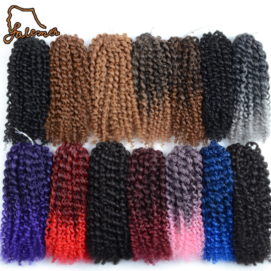 FALEMEI 90g 3pcs/Set Marlibob Curly Crochet Braid Hair Synthetic Braiding Afro Twist Bundles-WeaveKINGDOM.com