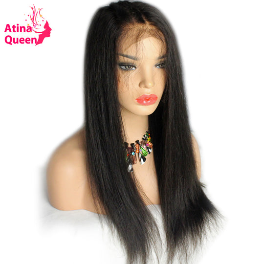 Atina Queen 13*6 Deep Part Lace Front Wig for Black Women Straight Glueless Lace Wigs with Baby Hair-WeaveKINGDOM.com